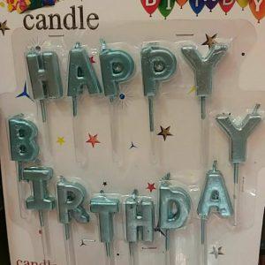 خرید مستقیم شمع های تولد مبارک به حروف انگلیسی مناسب جشن و تولد ها