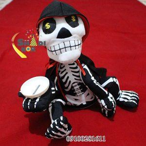 قیمت عمده لوازم شوخی و لوازم هالووین عروسک اسکلت سکه خور