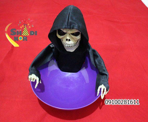 پخش عمده لوازم شوخی و لوازم هالووین عروسک اسکلت کاسه دار