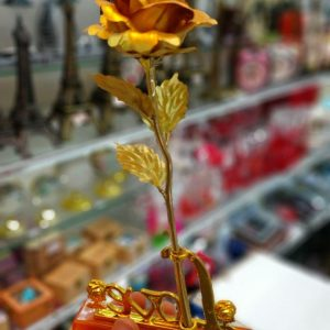 پخش عمده و آنلاین گل تک شاخه طلایی فلزی