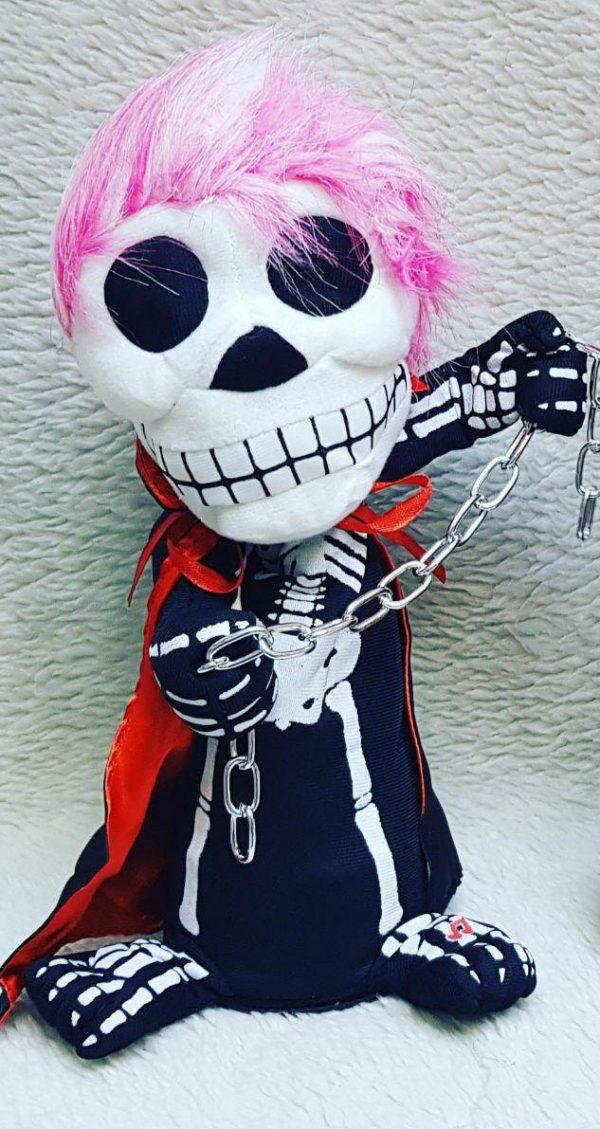 خرید عمده لوازم شوخی و لوازم هالووین عروسک اسکلت زنجیر دار