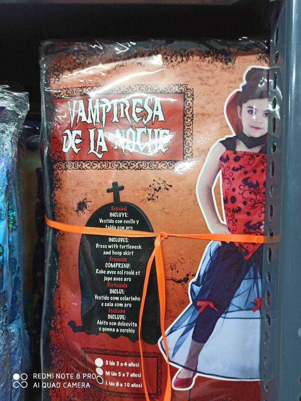 پخش عمده لوازم هالووین لباس دخترانه طرح ومپایر و آنا