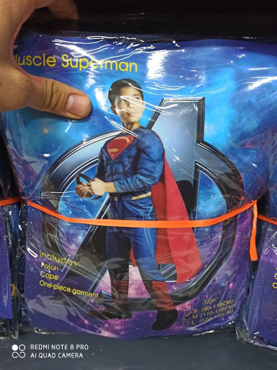 قیمت عمده لوازم هالووین لباس طرح سوپرمن عضلانی و ارواح اسکلتی