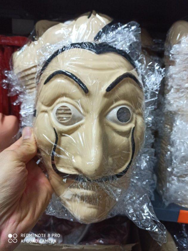 خرید عمده لوازم هالووین ست لباس کامل سالوادور دالی و ماسک دالی