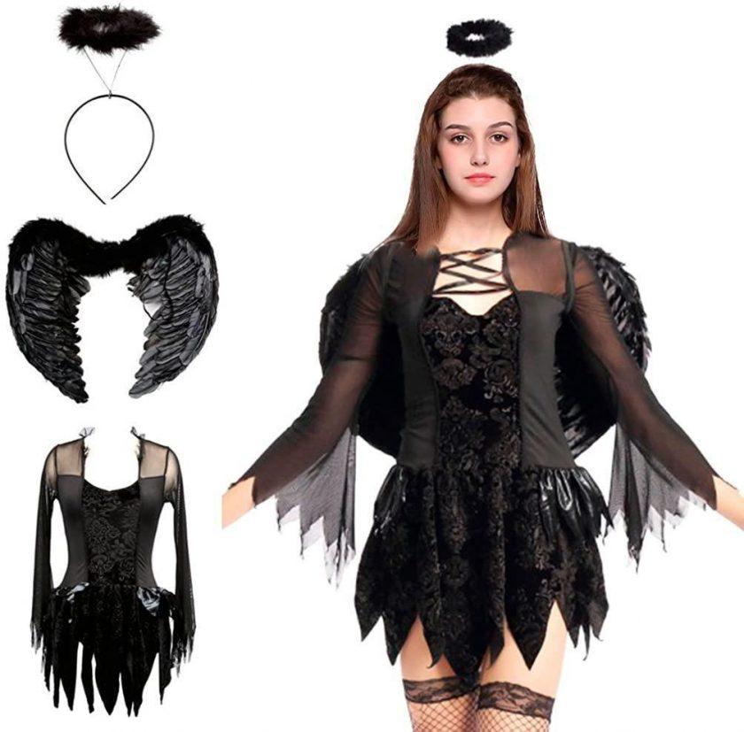 قیمت عمده لوازم هالووین لباس فرشته و پری سیاه