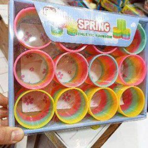 پخش عمده اسباب بازی های خاص فنر بازی رنگین کمانی