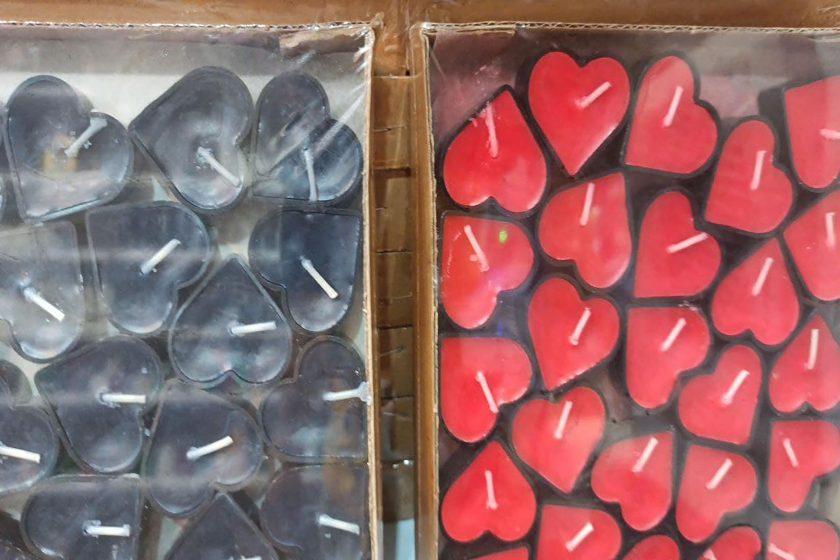 فروش عمده محصولات تولد شمع وارمر ساده، رنگی ، قلبی
