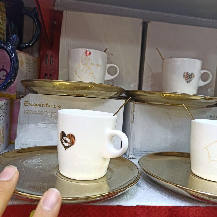خرید عمده محصولات کادویی زیبا فنجان و زیره به همراه قاشق